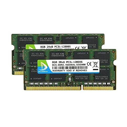 - 51lMsT02ZcL - DUOMEIQI DDR3 Ram 16GB, DDR3 1600, PC3-12800 2Rx8 PC3 12800S PC3/PC3L DDR3/ DDR3L 16GB Kit (2X8GB) 204pin 1.35v CL11 Notebook Memory Laptop RAM Module