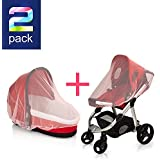 SUPER LIGHT WEIGHT (Pink) Baby Mosquito Net for Strollers...