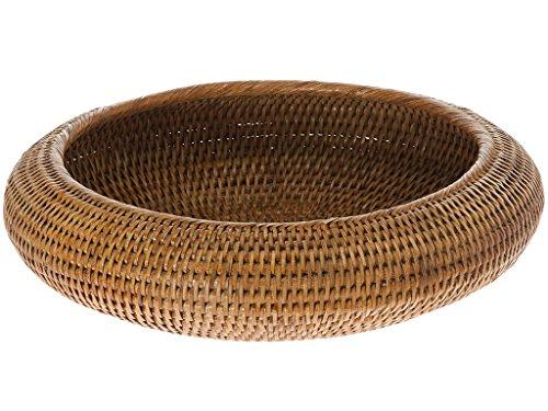 KOUBOO La Jolla Rattan Fruit Bowl, Honey Brown ()