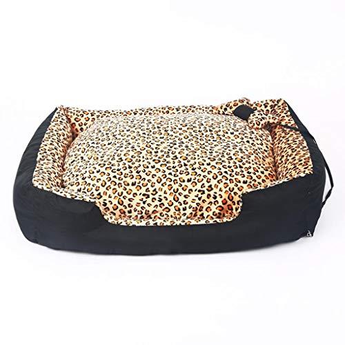 Queen Boutiques Leopardo Otoño E Invierno Cálido Mascota Nido Artículos para Mascotas Lavables (tamaño : XL-150 * 115 *...