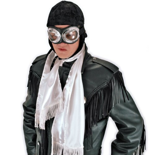 elope White Steampunk Aviator Scarf for Men and -
