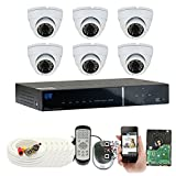 GW Security VD8CH6C726WH 8 Channel 960H Security Camera System (White)