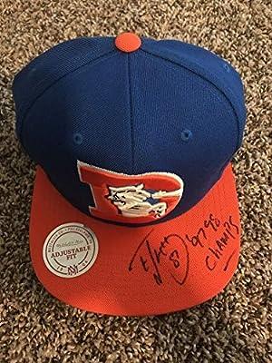 Ed Mccaffrey Autographed Signed Denver Broncos Hat Memorabilia - JSA Authentic