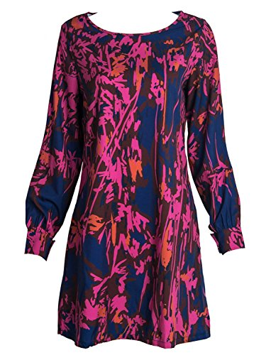 Persun Womens Color Floral Sleeve