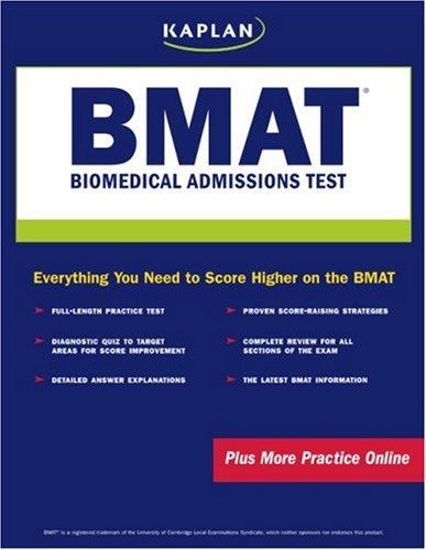 Pdf Test Preparation Kaplan Bmat: Biomedical Admissions Test