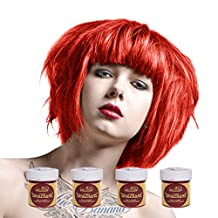 La Riche Directions Semi Permanent Coral Red Hair Colour Dye x 4