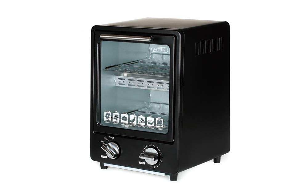 D-STYLIST Vertical Toaster Oven (BLACK) KK-00368BK【Japan Domestic Genuine Products】 【Ships from Japan】
