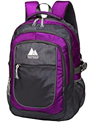 School Backpack For College Travel Hiking Fit Laptop Up to 15.6 Inch Water Resistant