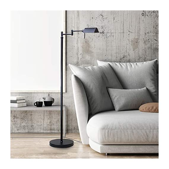 O'Bright Dimmable LED Pharmacy Floor Lamp, 12W LED, All Range Dimming, 360° Swing Arms, Adjustable Heights, Standing… - ✔️ ETL LISTED – O'Bright LED pharmacy floor lamp passes ETL Safety Standard Test and has ETL certification. ETL safety standard ensures you a safe product for daily use. ✔️ SUPER BRIGHT LED / ENERGY SAVER – The end-table floor lamp is built-in high efficient 10 Watts LEDs with approximately 50,000 hrs lifespan. You will never need to worry about replacing the light bulbs. The LEDs deliver Max.1050 Lumens of brightness (equal to 75W incandescent bulbs) which with ONLY 10 Watts power consumption, which saves you up to 80% of electricity bill, compared to halogen and incandescent lighting. ✔️ DIMMABLE / MEMORY FUNCTION - The LED reading lamp is built-in a smart dimmer switch with all range dimming and memory setting functions. Simply long press on the switch button to adjust the brightness and release the button when the light changes to your desired light level. You may dim the light to a soft setting for mood light or reading. Or, you can also change it to a high-level setting when you need a brighter light for craft works or sewing. The dimmer will always memorize your setting. - living-room-decor, living-room, floor-lamps - 51lMtmn%2BCsL. SS570  -