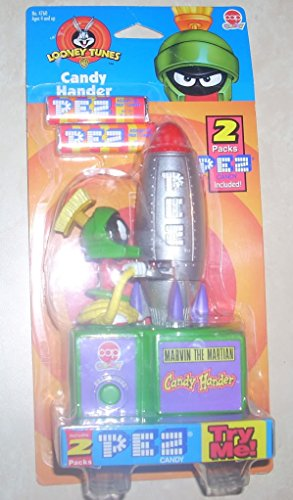 Looney Tunes Marvin the Martian Pez Candy Hander (Automatic Tune)