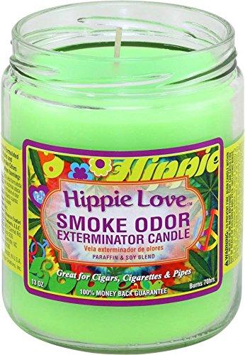 Smoke Odor Exterminator 13oz Jar Candle, Hippie Love