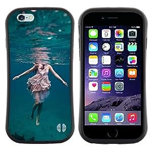 Pulsar iFace Series Tpu silicona Carcasa Funda Case para Apple (4.7 inches!!!) iPhone 6 / 6S (4.7 INCH) , Art Robe eau de mer photo plongée sous-marine