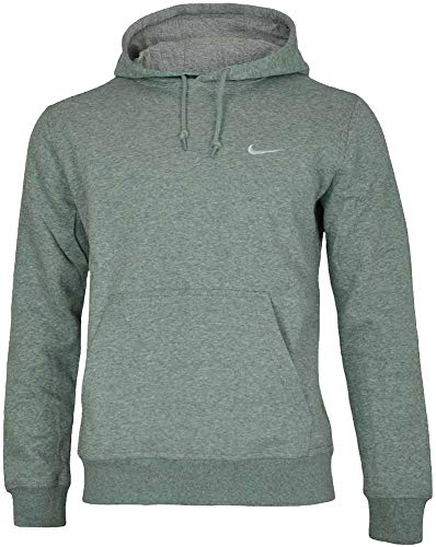 Nike Mens Classic Club Swoosh Pullover Hoodie-Gray-Large