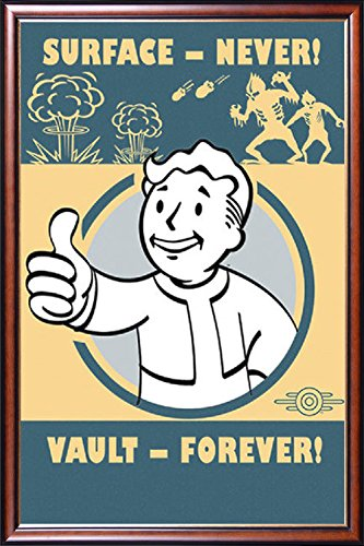 FRAMED Fallout 4 - Pip-Boy Slogan 24x36 Poster Dry Mounted i