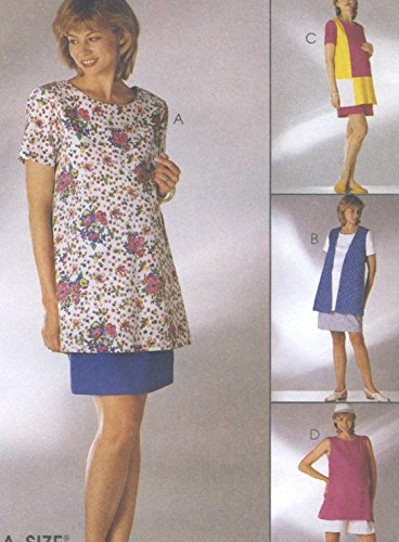 Misses Maternity Reversible Vest Pullover Top Pull On Skirt Shorts Sewing Pattern McCall 7679 Easy Size 8-12