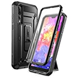 Huawei P20 Pro Case, SUPCASE Full-Body Rugged Cover with Built-in Screen Protector for Huawei P20 Pro (2018 Release) Not for Huawei P20, Unicorn Beetle Pro Series(SP/Black)