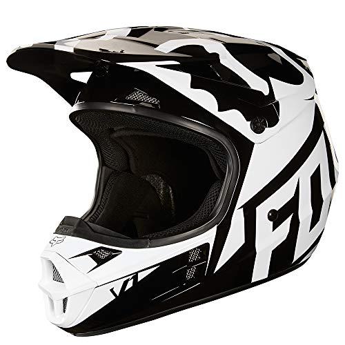 2018 Fox Racing V1 Race Helmet-Black-L (Fox Motocross Gear)