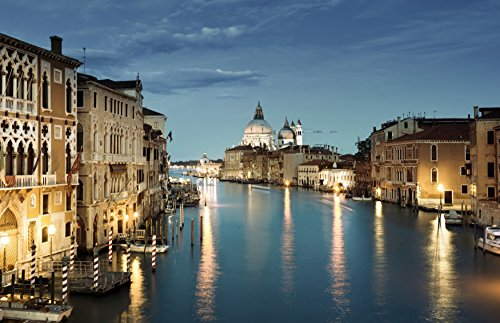 Cortesi Home Venice Tempered Glass Wall Art, 24-Inch by (Venice Italy Art)