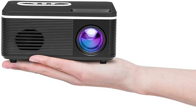 Opinión sobre Zhoutao S361 80 lúmenes 480x320 píxeles Mini proyector Portable, Ayuda 1080P (Color : Black)