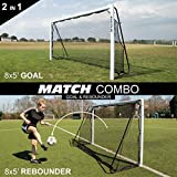 QuickPlay 2in1 Soccer Goal + Rebounder | Use as 8x5' Goal from The Front OR a Soccer Rebounder from The Back | The Ideal Team Shooting Target or Backyard Soccer Trainer - 2YR Warranty