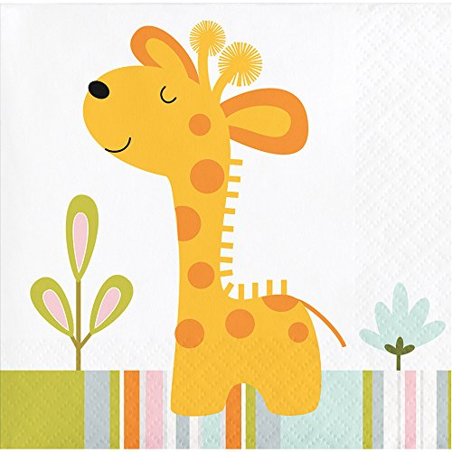 (64 Jungle Safari Premium Beverage Napkins for Birthday Shower Party 5