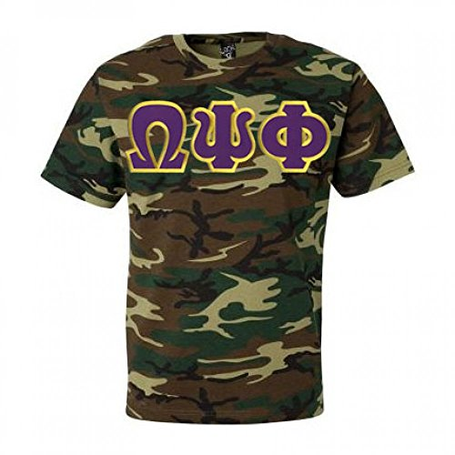 Omega Fraternity Lettered T Shirt Camouflage product image