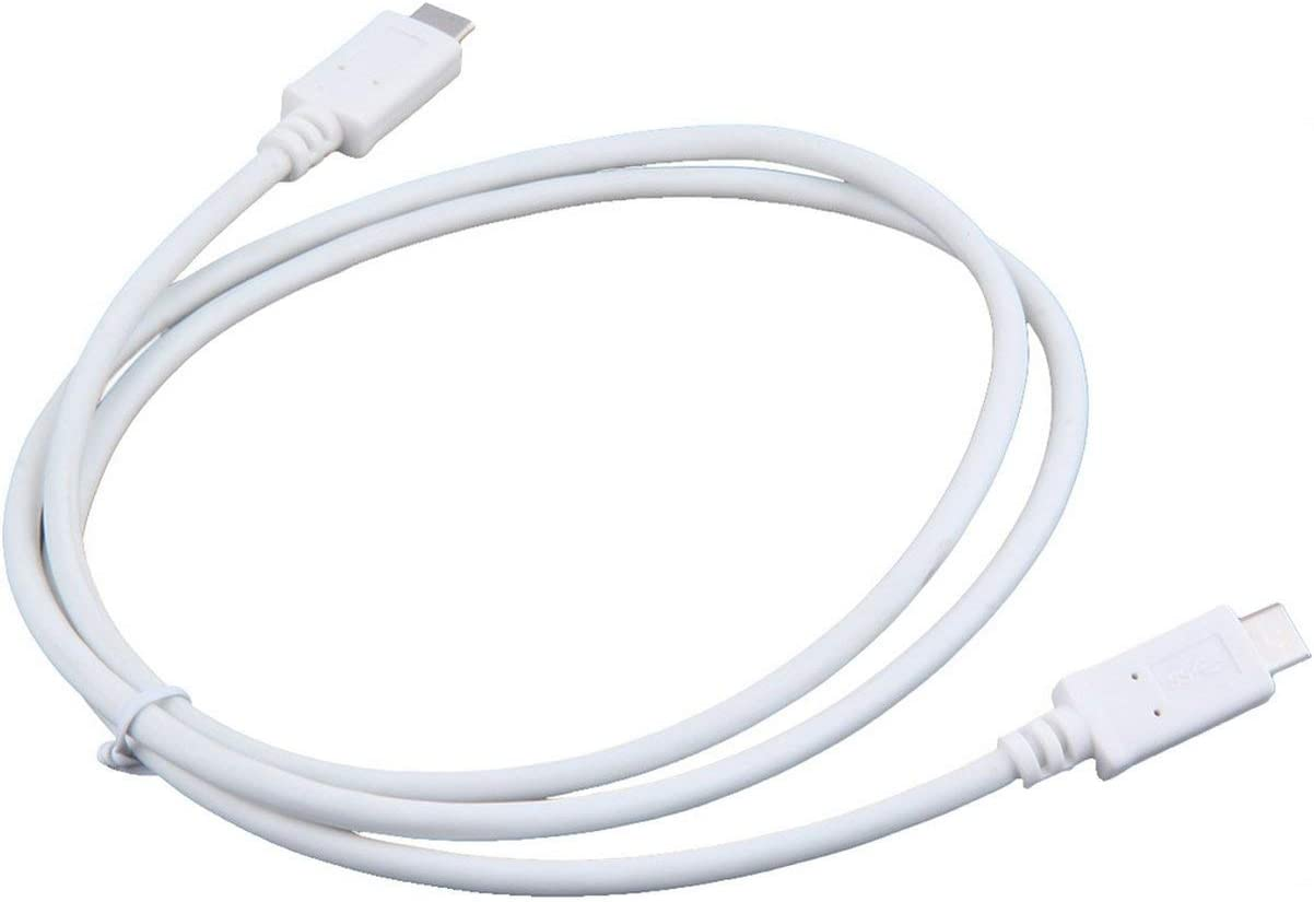 Detectorcatty 3 FT Reversible USB 3.1 Type-C Male to Type-C Male Connector Data Cable Black /& White Universal Wholesale
