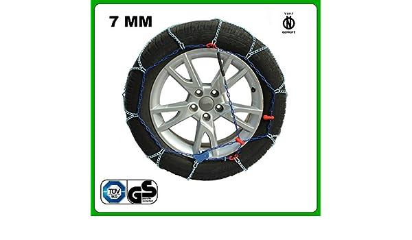 Cadenas de nieve para coche, eslabón 7 mm, homologación V5117 ZN810KW: Amazon.es: Coche y moto