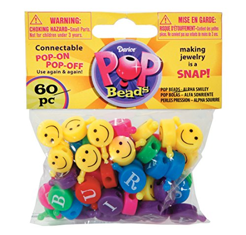 Darice Smile Face Pop Beads