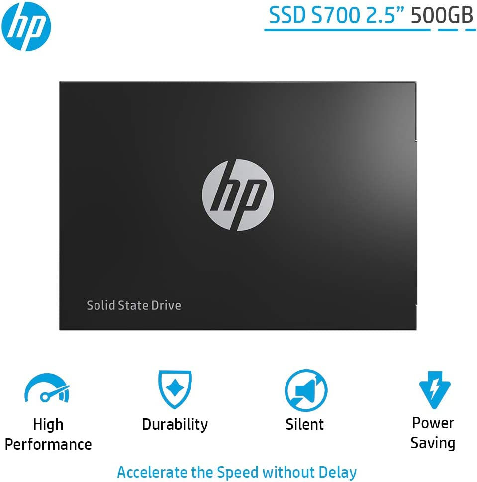 "HP SSD S700 2.5"" 500GB SATA III 3D NAND Internal Solid State Drive (SSD) 2DP99AA#ABC"