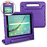 Samsung Galaxy Tab S3 9.7 case for kids [SHOCK PROOF KIDS TAB S3 CASE] COOPER DYNAMO Kidproof Child Tab S3 9.7 inch Cover for School Girls | Kid Friendly Handle Stand, Light, Screen Protector (Purple)