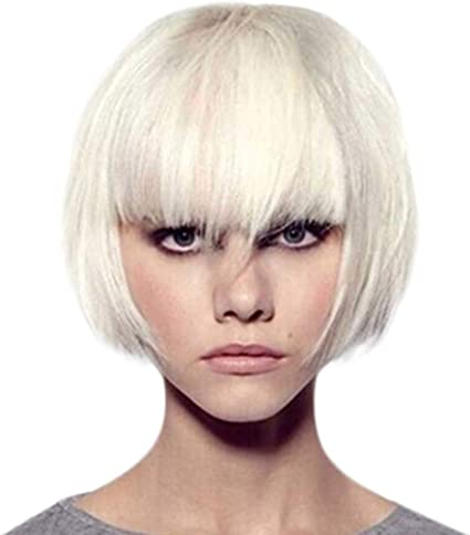 Amazon Com Himtak Ladies Short White Hair Wigs Curls Fashion Synthetic Short Red Wine Curly Hair Wig Natural Hair Wigs Female Fiber Sports Outdoors