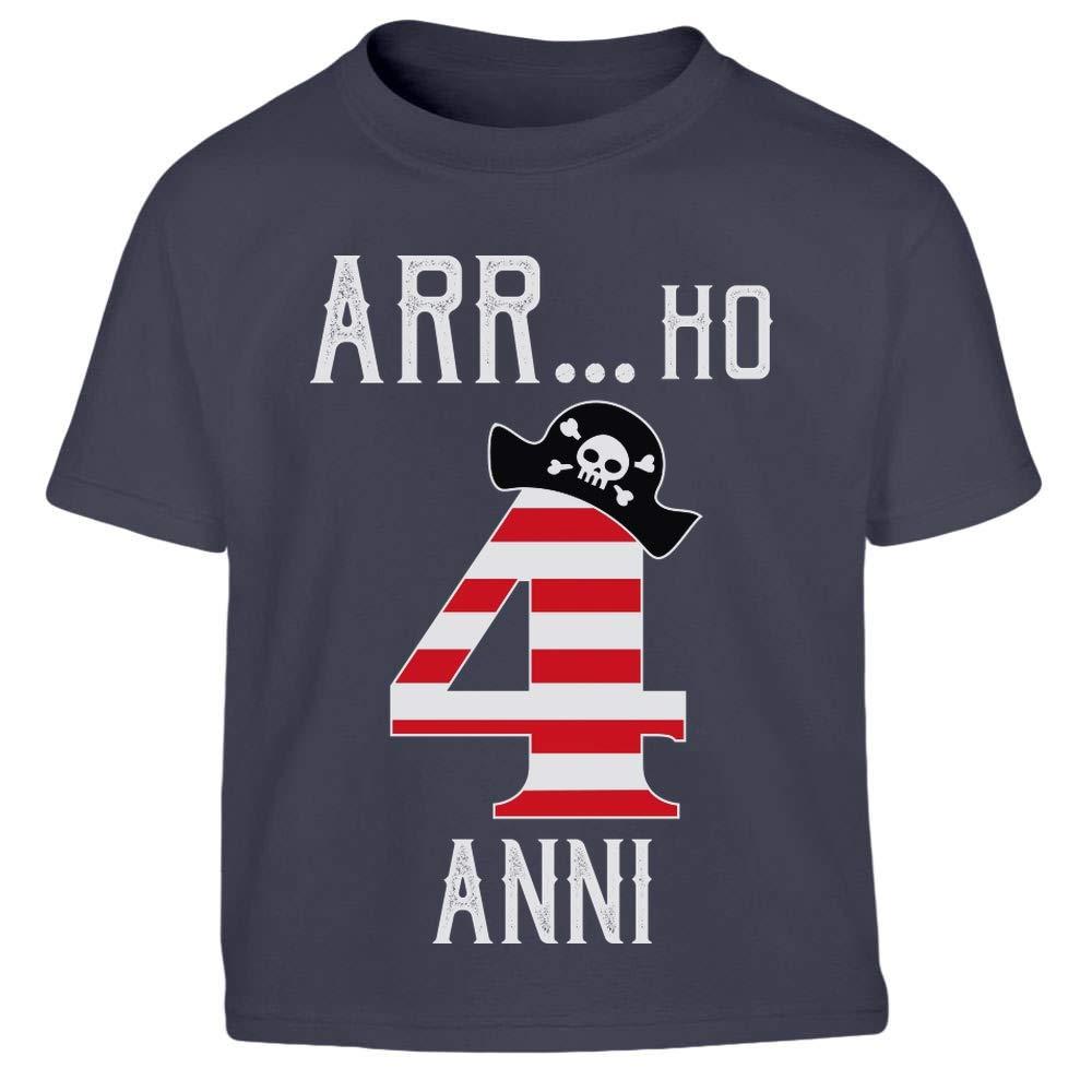 Idea Regalo per Bimbi e Bimbe Maglietta per Bambini Shirtgeil Arr.Ho 4 Anni