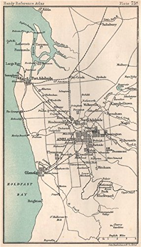 Map Of Adelaide Australia.Amazon Com Environs Of Adelaide South Australia Bartholomew