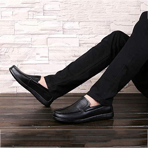Hombres Ons y de Fiesta Zapatos Mocasines de Invierno Un Perezosos de y Formales Zapatos conducción otoño Slip Zapatos Noche Negocios para Casuales Zapatos RZEqHvwO