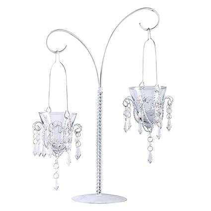 Amazon gifts decor mini chandelier hanging metal glass votive gifts decor mini chandelier hanging metal glass votive candle stand aloadofball Gallery