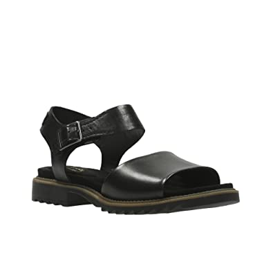 3e971b6c9fb7 Clarks Ferni Fame Leather Sandals In Black Standard Fit Size 9   Amazon.co.uk  Shoes   Bags