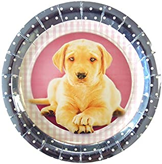 Cute Cats and Dogs Metallic Paper Plates 6pk by Anker  sc 1 st  Amazon UK & Puppy Dog Birthday Party Kit 3 For 8 Children | Puppy Dog Tableware ...