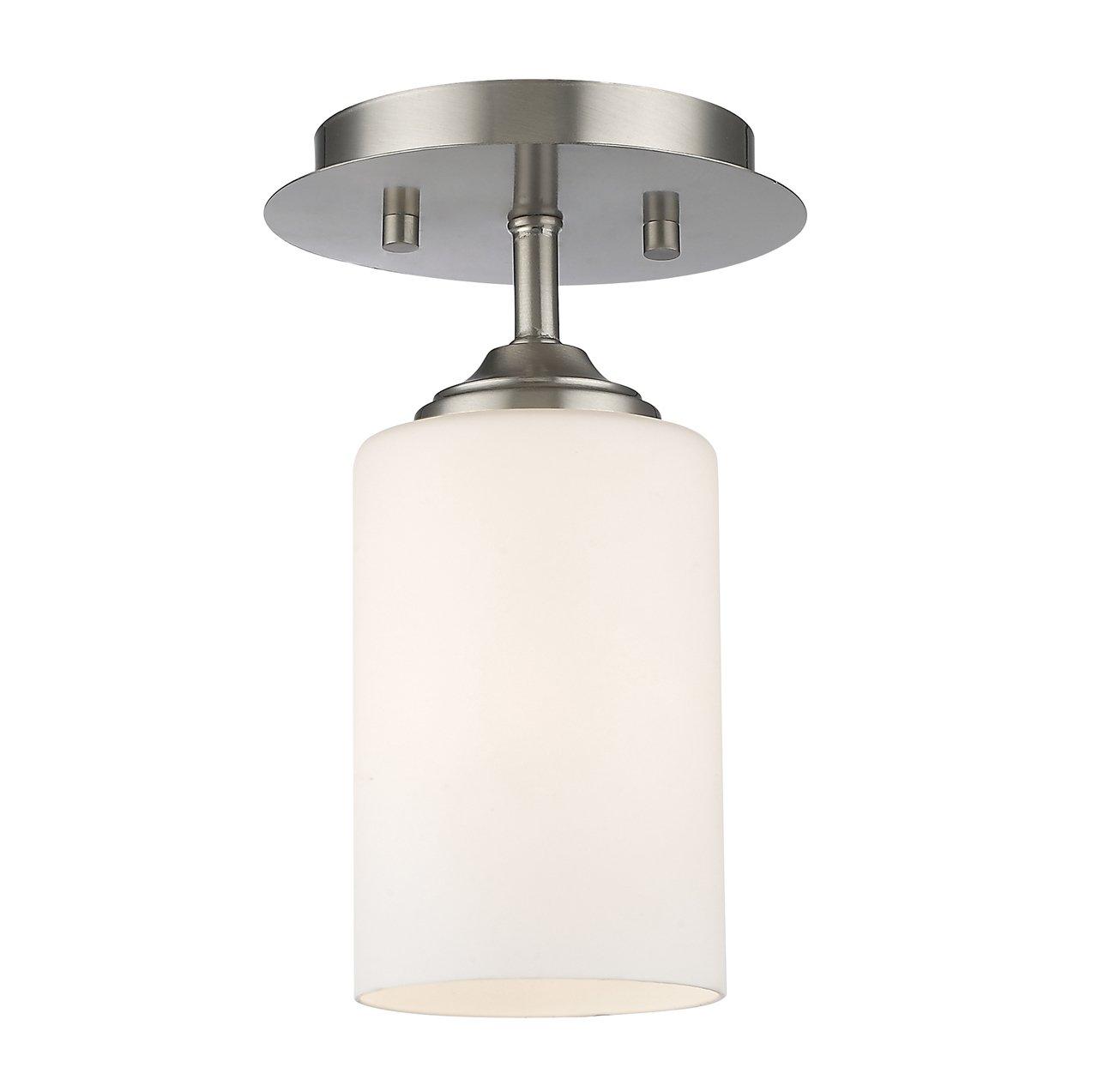 Z-Lite 435F1-BN 1 Light Flush Mount