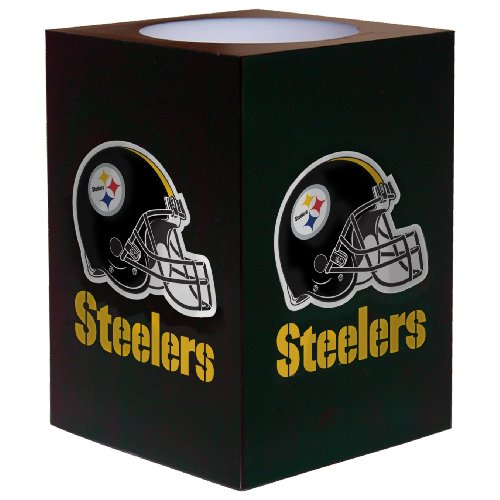 Steelers Candle Nfl Pittsburgh (NFL Pittsburgh Steelers Square Flameless Candle)
