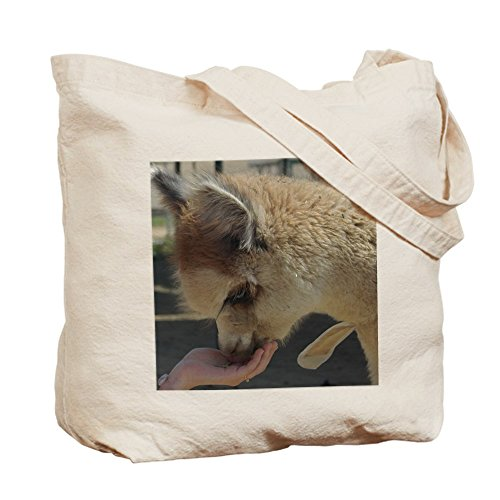 CafePress–KSC 2cara foto alpaca–Gamuza de bolsa de lona bolsa, bolsa de la compra