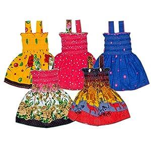 Sathiyas Girls' Knee Length Dress