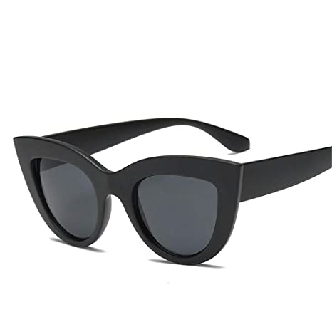 DiseñO Moderno Retro Light Frame Gafas De Sol Cat Eye Gafas De Sol Negras Para Mujer, A