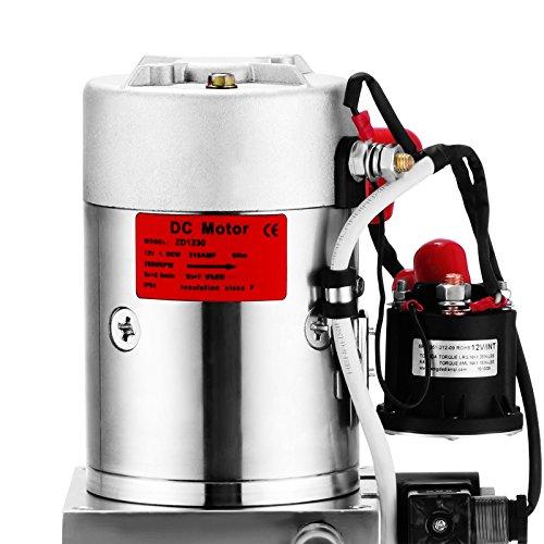 Happybuy Hydraulic Pump 12V DC Single Acting Hydraulic Power Unit 8 Quart Plastic Tank Hydraulic Pump Power Unit for Dump Trailer Car Lifting (8 Quart Single Acting Plastic) by Happybuy (Image #7)