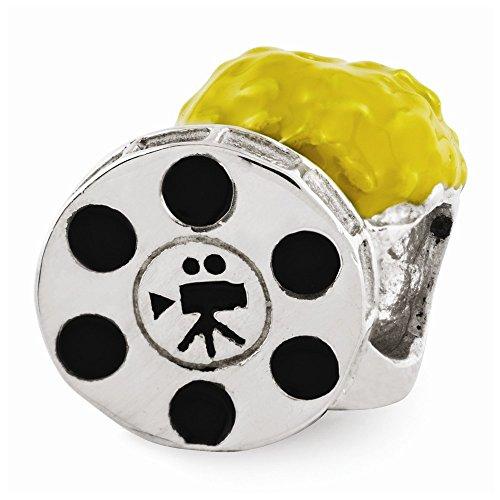 Sterling Silver Reflections Enameled Popcorn & Movie Reel (Reel Charm)