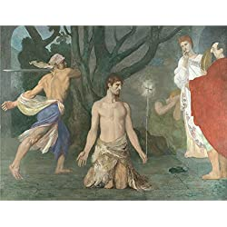 Oil Painting 'Pierre Cecile Puvis De Chavannes The Beheading Of Saint John The Baptist' 12 x 16 inch / 30 x 40 cm , on High Definition HD canvas prints, gifts for Kitchen, Living Room And Stud decor