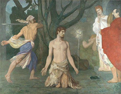 Oil Painting 'Pierre Cecile Puvis De Chavannes The Beheading Of Saint John The Baptist ' Printing On Polyster Canvas , 20 X 26 Inch / 51 X 66 Cm ,the Best Bathroom Gallery Art And Home Decor And Gifts Is This Reproductions Art Decorative Prints On Canvas