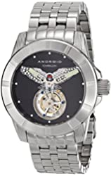 Android Men's AD811AS Bald Eagle Tourbillon Analog Display Automatic Self Wind Silver Watch