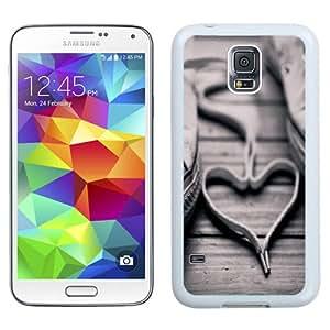 Unique Phone Case Shoe Laces Love Heart Galaxy S5 Wallpaper in White