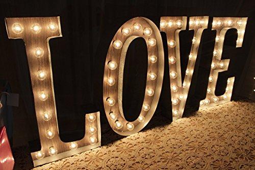 Custom marquee lighted Love